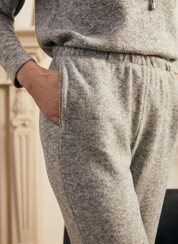 Pantalon à enfiler en tricot, Gris,  pantalon, pull-on, à enfiler, poches, tricot, jogger, jambe droite, coupe cheville, printemps été 2021