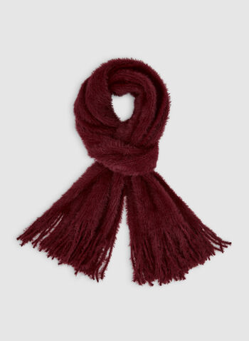 Fringed Scarf, Red,  scarf, fringes, fall 2019, winter 2019