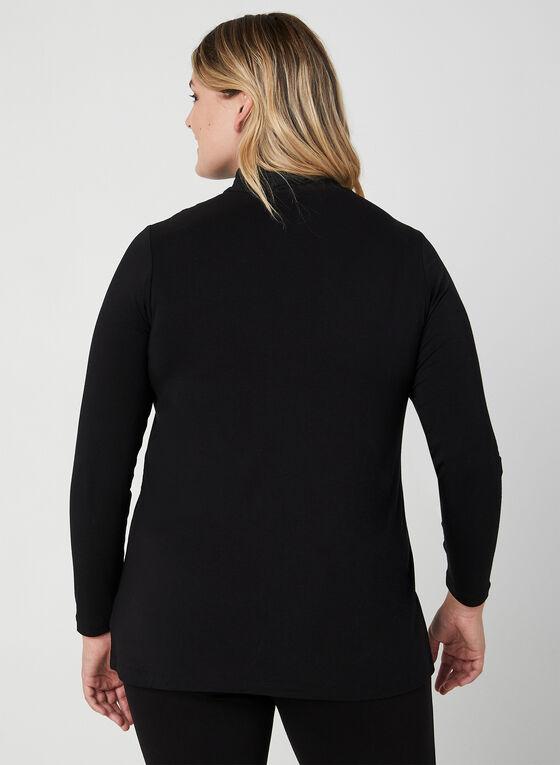 Long Sleeve Mock Neck Top, Black
