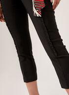 Ruffle Trim Pull-On Capri Pants, Black, hi-res
