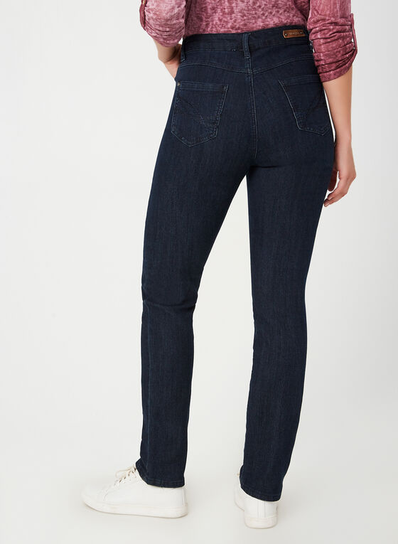 Simon Chang - Signature Fit Straight Leg Pants, Blue