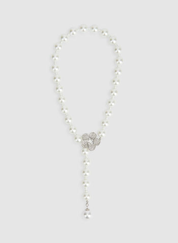 Pearl Y Necklace, Off White, hi-res,  pearl necklace