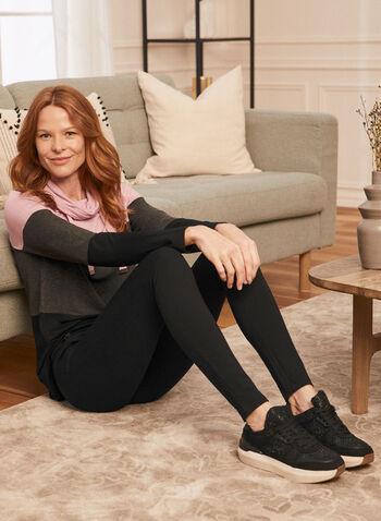 Legging à enfiler avec détails zippés, Noir,  automne hiver 2020, legging, pantalon, jambe étroite, taille élastique, à enfiler, zip, glissière