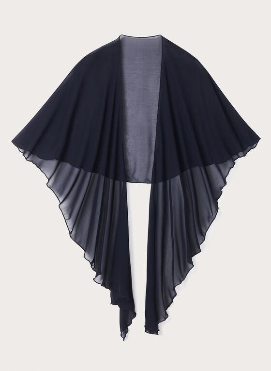 Châle léger en mousseline, Bleu