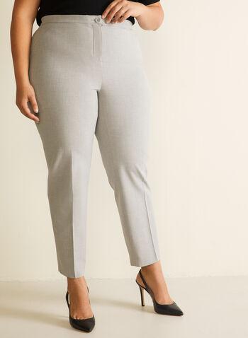 Signature Fit Straight Leg Pants, Grey,  pants, signature fit, straight leg, pleats, fall winter 2019