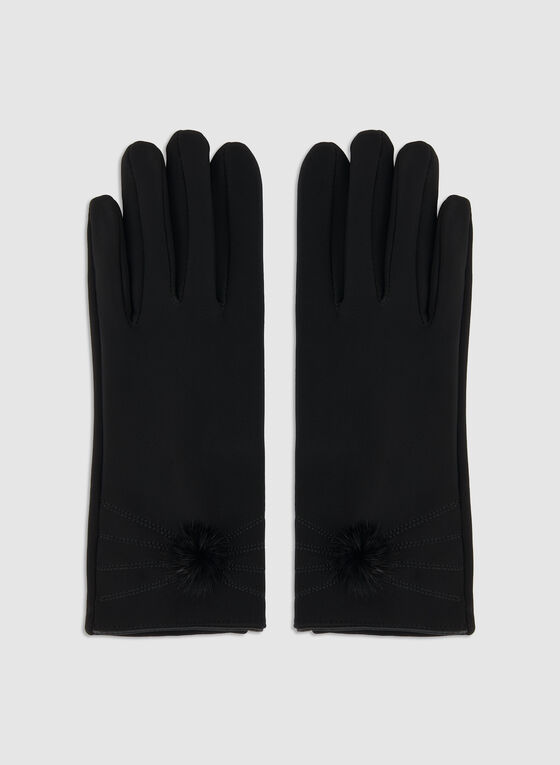 Nylon Gloves, Black