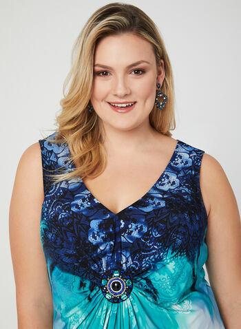 Tie Dye Maxi Dress, Blue, hi-res
