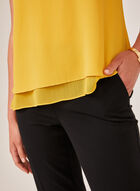 Scoop Neck Sleeveless Top, Yellow, hi-res