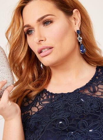 Sequin Lace Mermaid Dress, Blue, hi-res