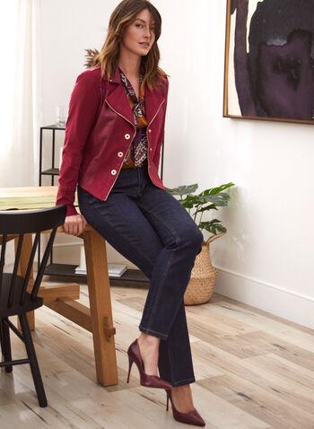Faux Suede Jacket, Purple,  jacket, faux suede, long sleeves, notch collar, zipper, fall winter 2020