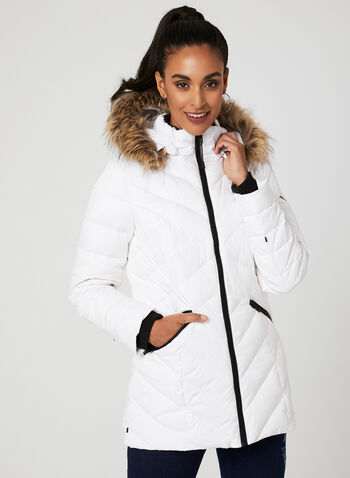 Novelti – Reflective Quilted Down Coat, White, hi-res