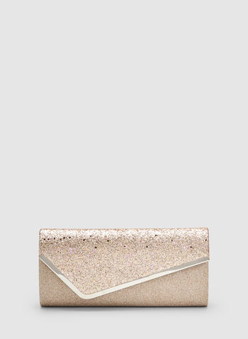 Glitter Envelope Clutch, Pink, hi-res