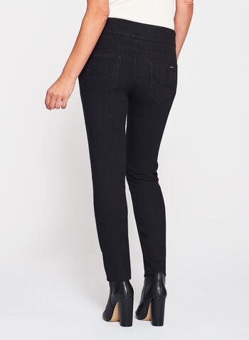Simon Chang - Contemporary Fit Slim Leg Jeans, Black, hi-res