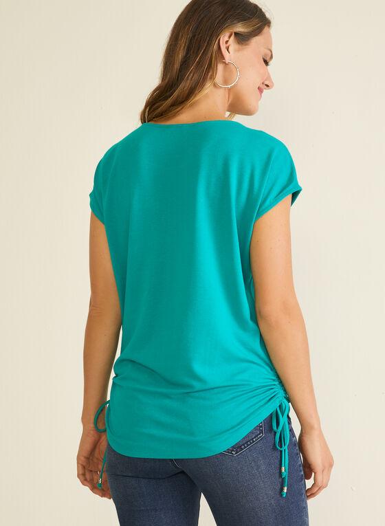 T-shirt à détails ornementés, Vert