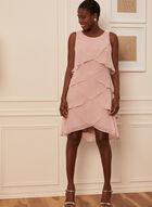 Tiered Chiffon Dress, Pink