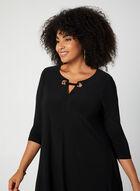 Nina Leonard - Robe en jersey à manches ¾, Noir