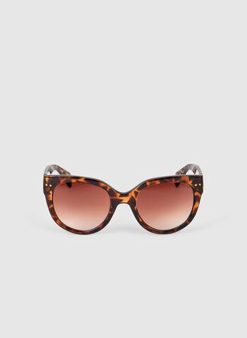 Lunettes de soleil écaille de tortue, Brun, hi-res,  lunettes de soleil, écaille de tortue, plastique