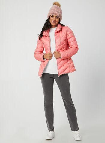 Bernardo - Manteau matelassé EcoPlume™, Orange,  manteau, matelassé, manches longues, écoresponsable, écoplume, pochette, poches. automne hiver 2019