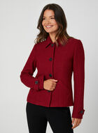 Textured Wool Jacket, Red
