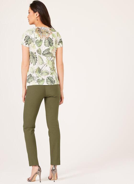 T-shirt à dos crocheté , Vert, hi-res