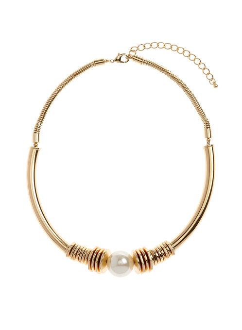 Collier rigide à perle, Blanc cassé, hi-res