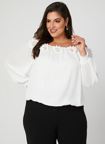 Frank Lyman - Off The Shoulder Blouse, Off White, hi-res