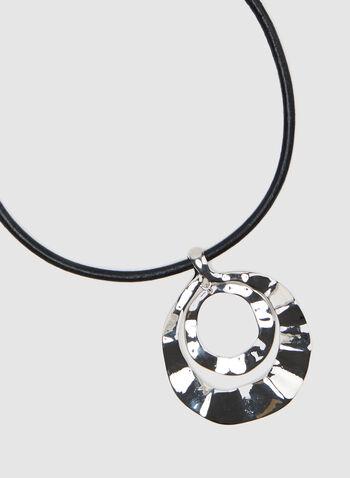 Pendant Choker Necklace, Silver, hi-res