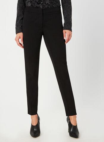 Pantalon coupe moderne à jambe étroite, Noir, hi-res,  pantalon, moderne, jambe étroite, automne hiver 2019