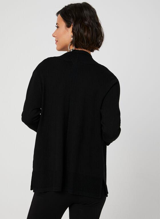 Cardigan ouvert à manches ¾, Noir