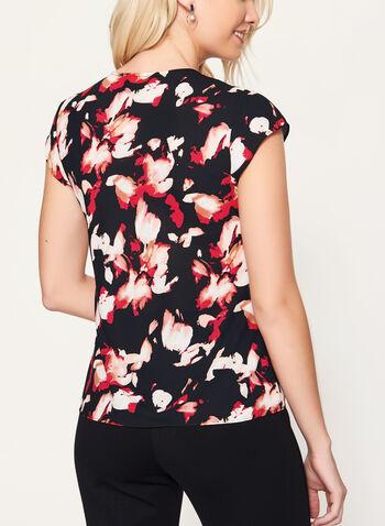 Chiffon Floral Print Blouse, Black, hi-res