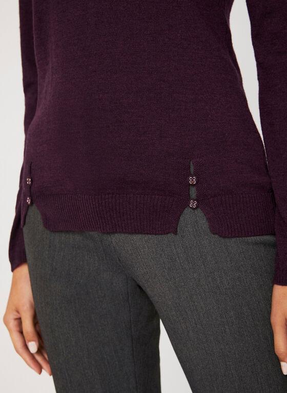 Vex – Pull en laine de mérinos et cachemire  , Rouge, hi-res