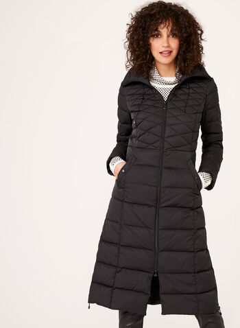 B by Bernardo - PrimaLoft® & Down Filled MicroTouch Coat , Black, hi-res