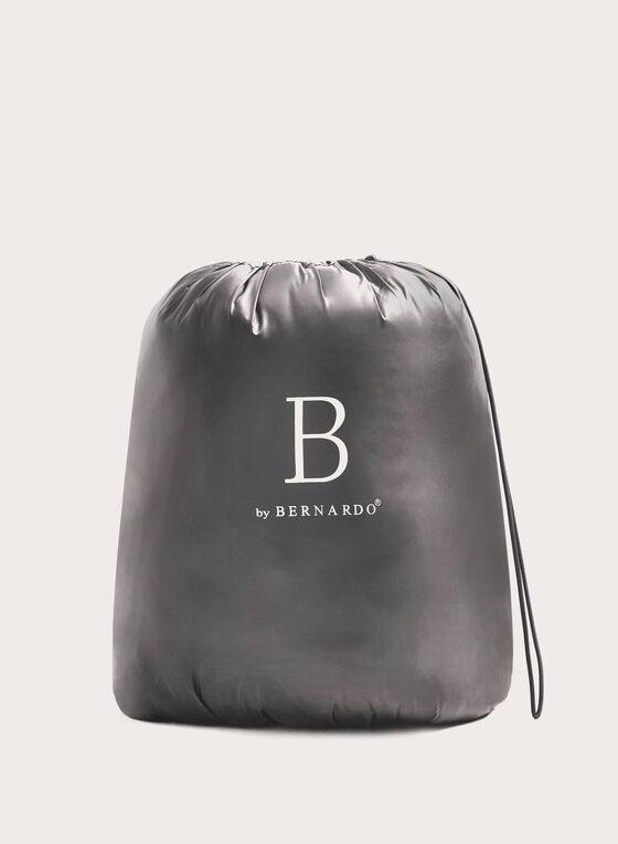 B by Bernardo - Manteau matelassé PrimaLoft® en duvet compressible, Argent, hi-res