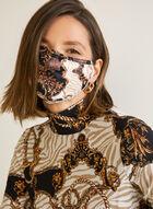 Masque en tissu à motif tapisserie, Noir