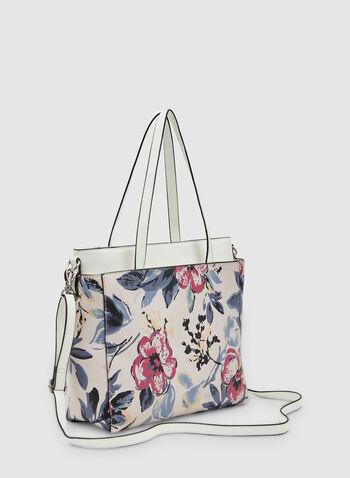 Floral Print Tote Bag, Multi, hi-res,  spring 2019, adjustable strap