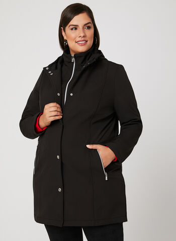 Hooded Transition Bib Coat, Black, hi-res