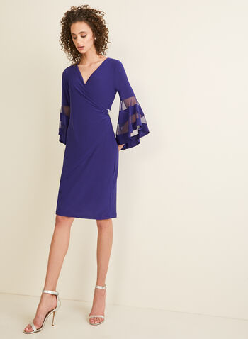 Jersey Wrap Side Dress, Blue,  dress, long dress, jersey, jersey dress, rhinestones, wrap dress, spring 2020, summer 2020