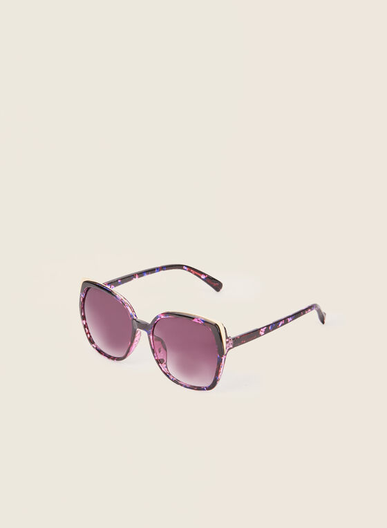 Plastic Square Sunglasses , Purple