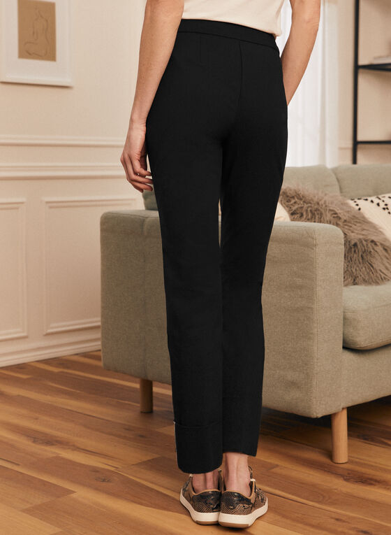 City Fit Straight Leg Pants , Black