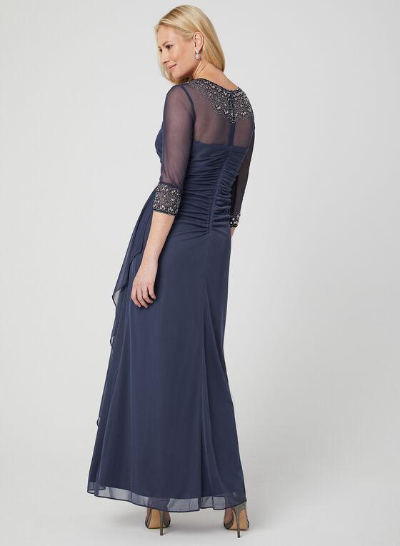 Alex Evenings - Robe en maille filet à ornements, Violet