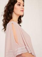 Robe poncho avec ourlet métallisé, Rose, hi-res