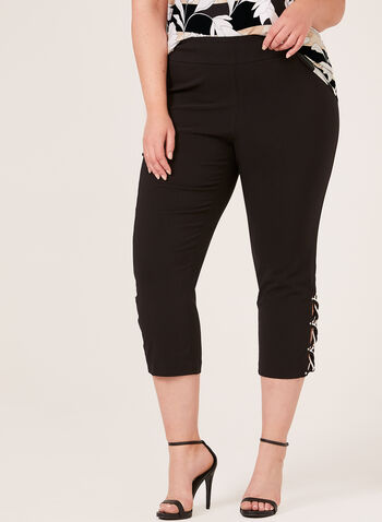 Modern Fit Pull-On Capri Pants, Grey, hi-res