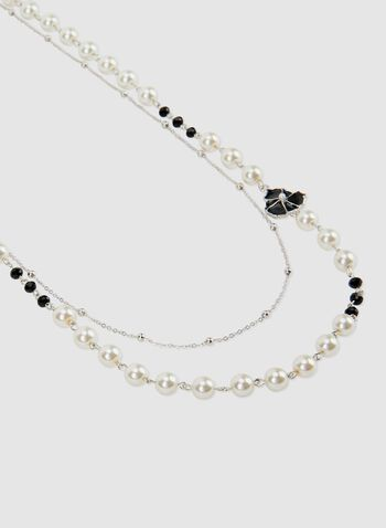 Double Strand Chain Necklace, Off White, hi-res