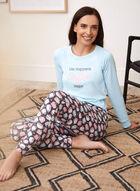 Coffee Print Pyjama Set, Blue