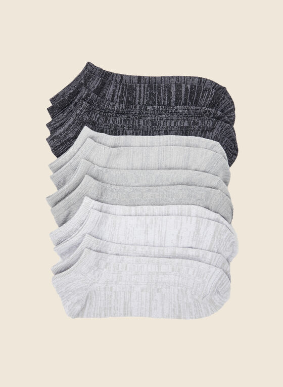 Pack of 6 Ankle Socks, Grey