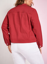 Solid Denim Jacket, Red, hi-res