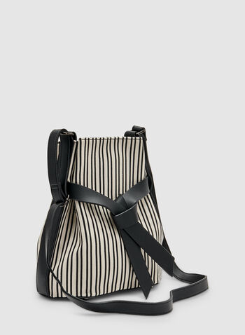 Stripe Print Crossbody Bag, Black, hi-res
