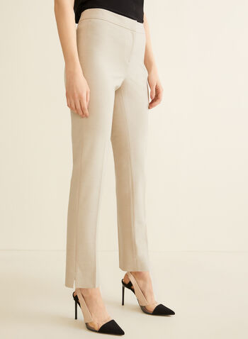 City Fit Straight Leg Pants, Off White,  pants, straight leg, city fit, stretchy, spring summer 2020