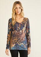 Vex - Foliage Print Long Sleeve Tee , Blue