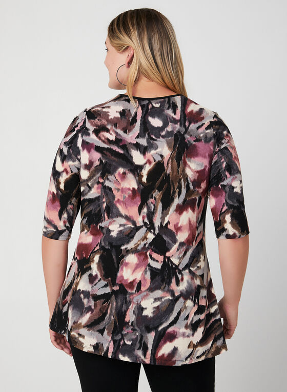 Floral Print ¾ Sleeve Blouse, Red, hi-res